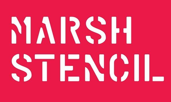 MARSH STENCIL Font