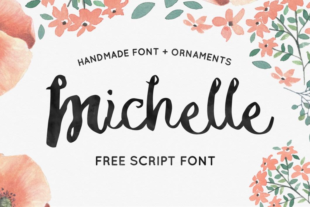 Michelle Free Handmade Script Font