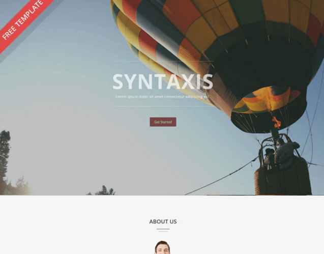 Syntaxis – Free One Page Parallax Template
