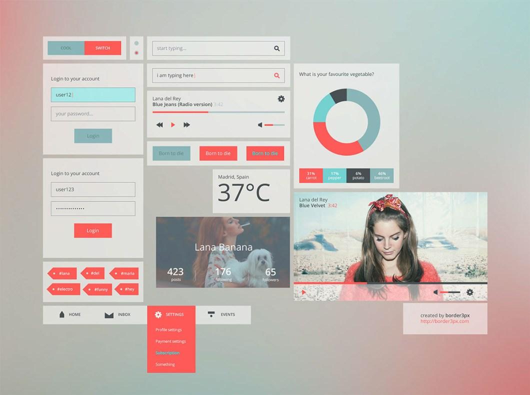 UI Kit Free PSD