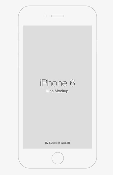 iPhone 6 Line Template PSD