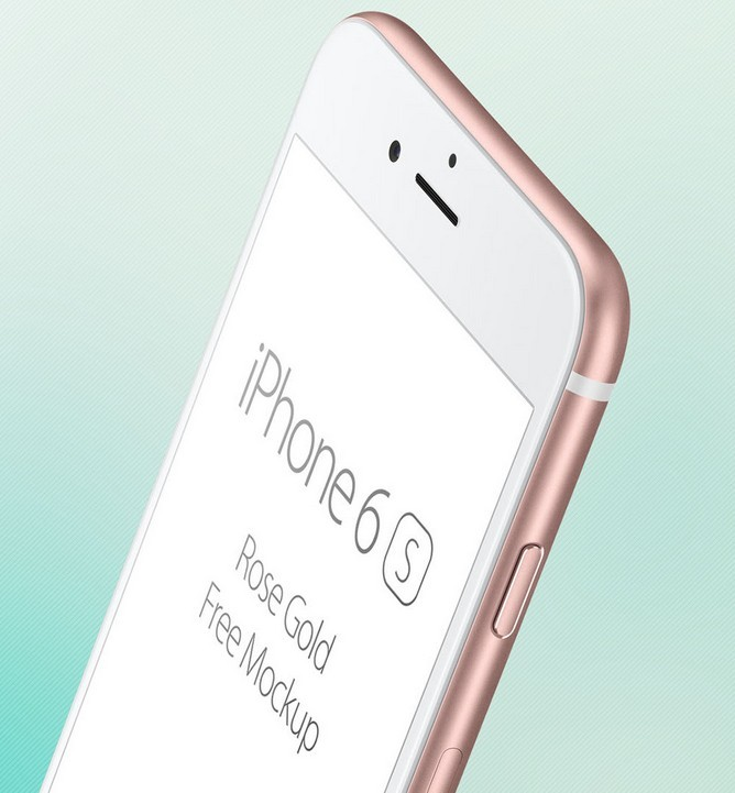 iPhone 6S Rose Gold free mockup