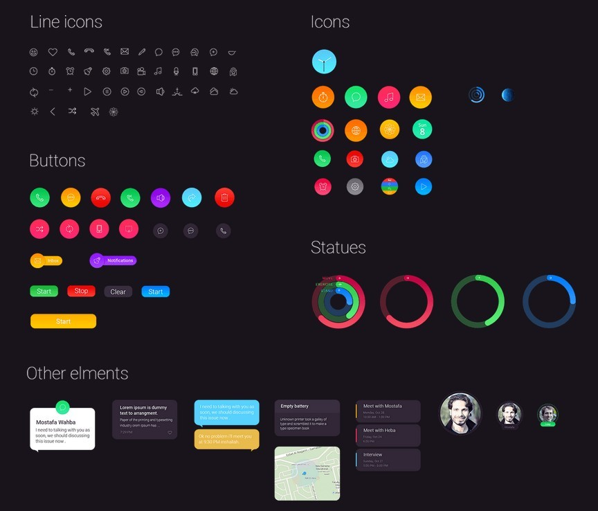 Apple Watch GUI Redesign Elements