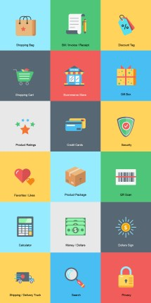 Shopping And -commerce Icon Sets Updated