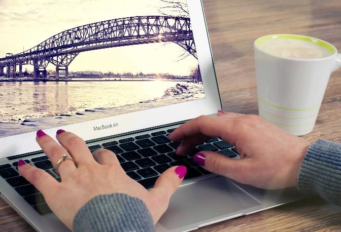MacBook Air Office Mockup