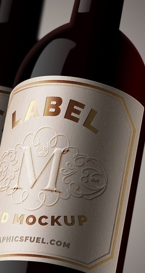 WINE BOTTLE LABEL MOCKUP PSD