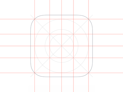 iOS App Icon template for Sketch