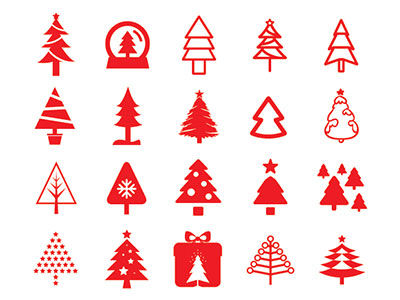 80 Christmas Tree Icons