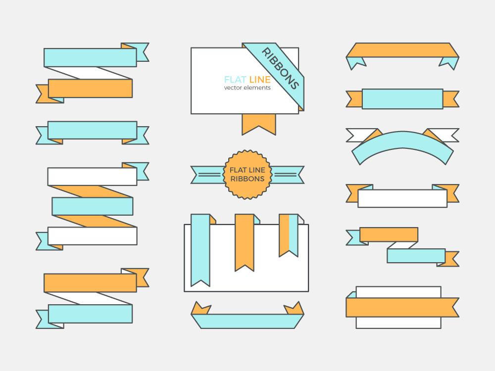 Line Vector Ribbons