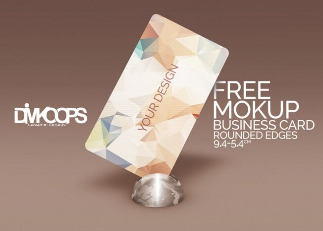 Mockup Business card Rounded edges
