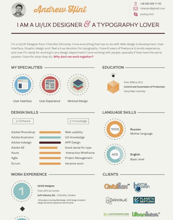 Resume (CV) Template FREE Psd
