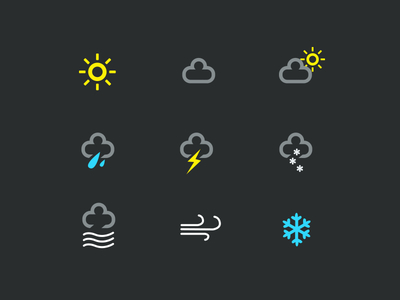 Weather Icons - Free PSD