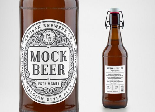 Artisan Beer Bottle MockUp