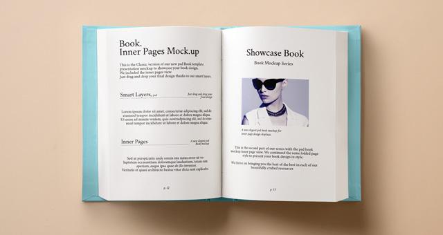 Psd Hardback Book Inner Mockup