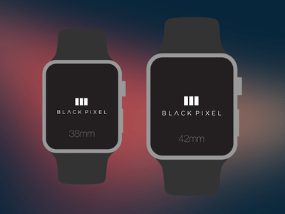 The Black Pixel Apple Watch PSD
