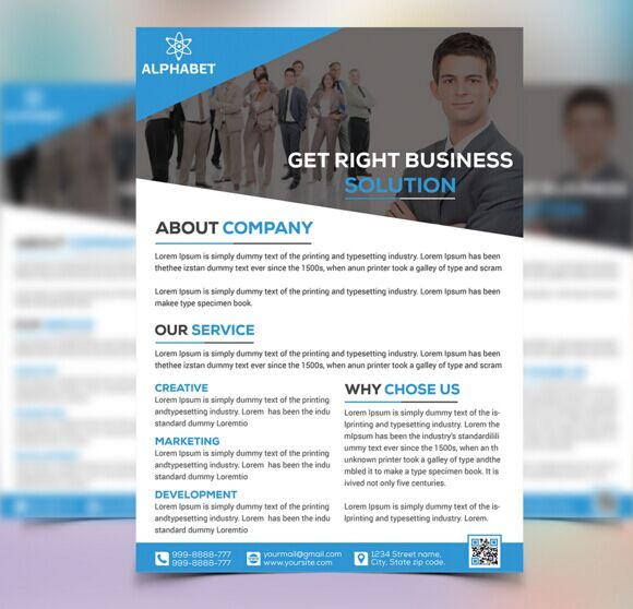 3 corporate business flyer templates psd