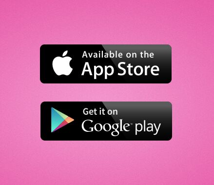 15+ Mobile App Download (App Store, Google Play) Button