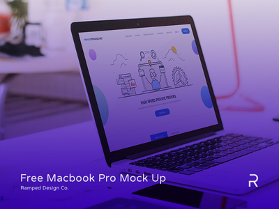 FREE Macbook Pro Mock Up