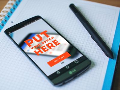 Free LG Android Phone Mockup