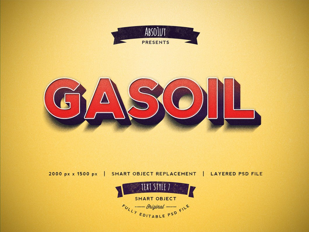 Gasoil Photoshop Text Effect