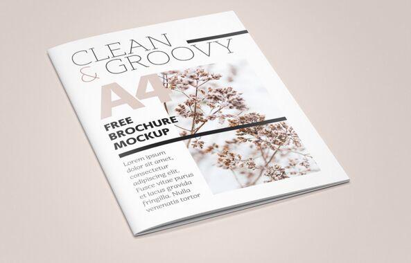 Free A4 Brochure Catalog Mockup