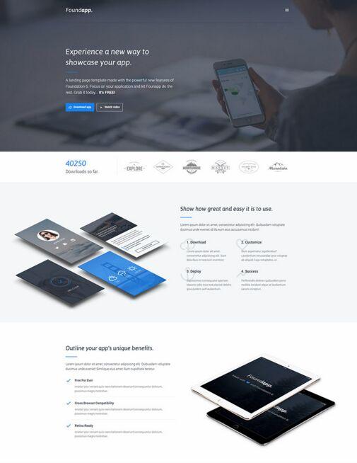 Free Mobile App Landing Page