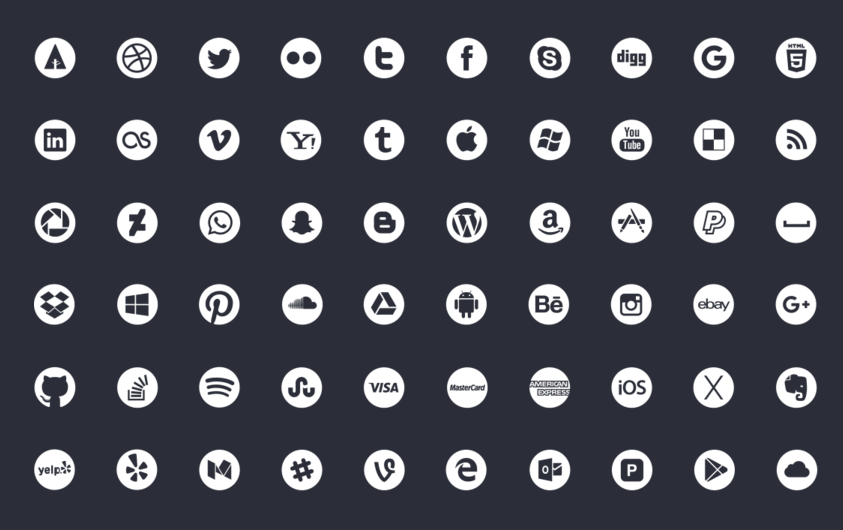 797dd2e9dfe6 30+ Best Social Media Icon Sets For Free Download (Updated For 2019 ...