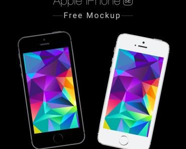 Apple iPhone SE Free Mockup PSD