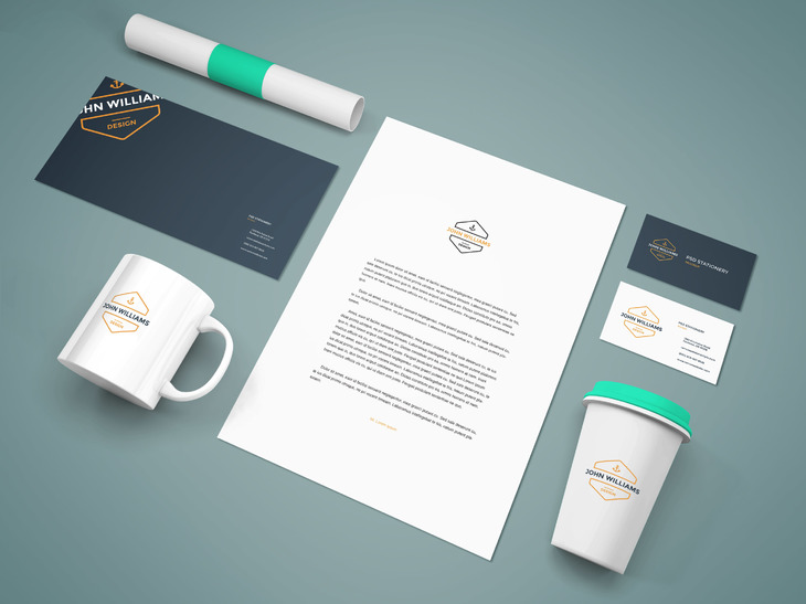 100 high quality identity branding stationery mockups for free