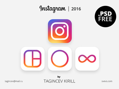 Instagram Icon 2016 (FREE PSD)