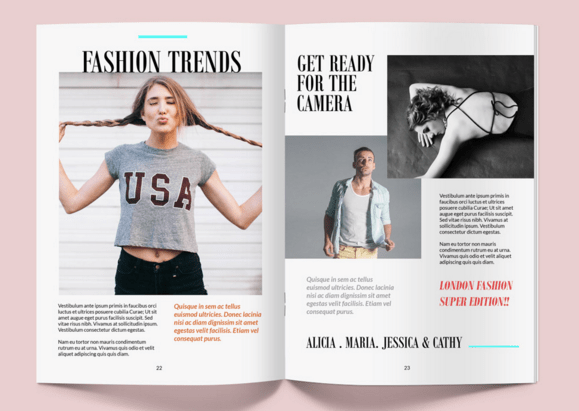 40 magazine mockups templates for free download 365 for Magazine cover page template psd