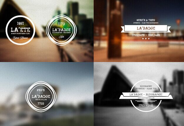 5 Free Retro Badges (PSD)