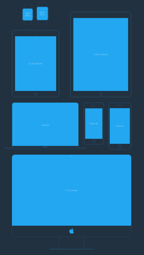 A Flat Apple Devices Mock-up