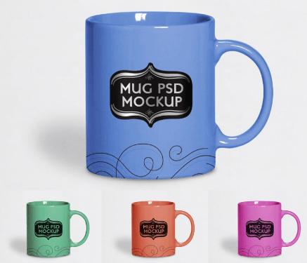 Free Tea Cup Mug Mock-up PSD File