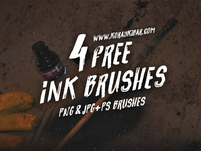 4 Free Ink Brushes