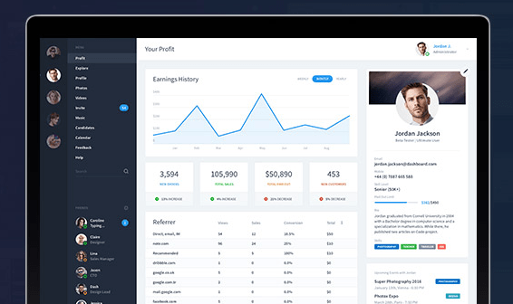 Dashboard UI Templates