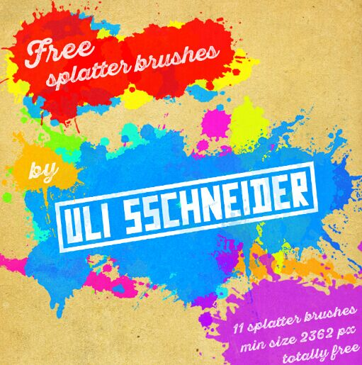 Free splatter brushes for photoshop