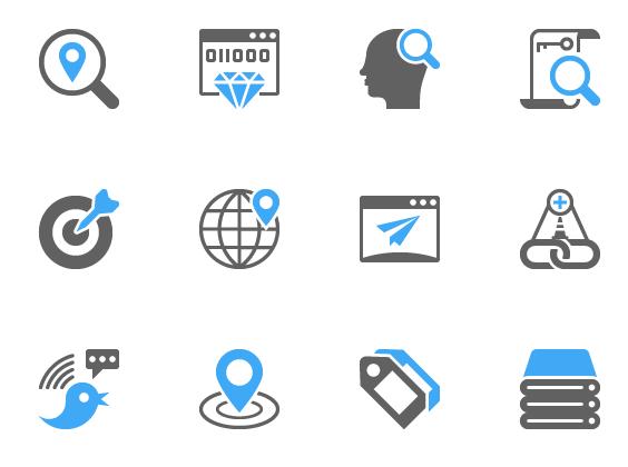 SEO Glyph Icons