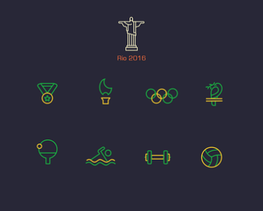 2016 Rio Summer Olympics Icons