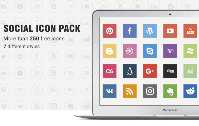 FREE vector social media icon set