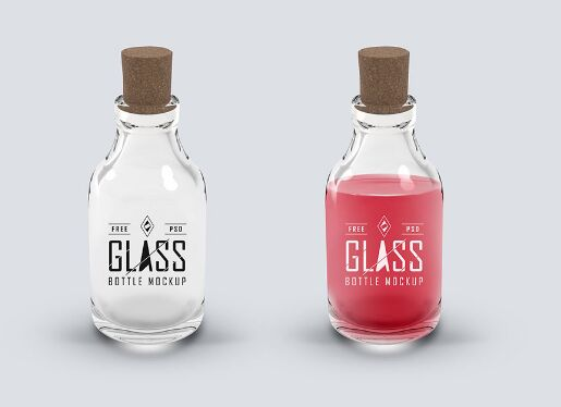 Glass Bottle PSD Mockup