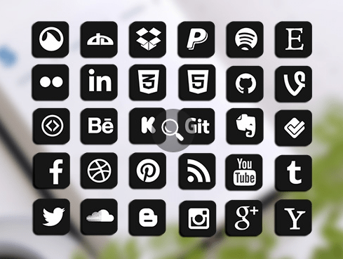 Vector Icon Social Media Pack