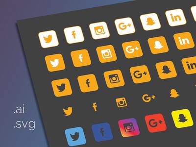 40 Social Icons
