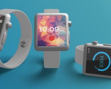 Basic Apple Watch Mockup 3in1 (Free PSD)