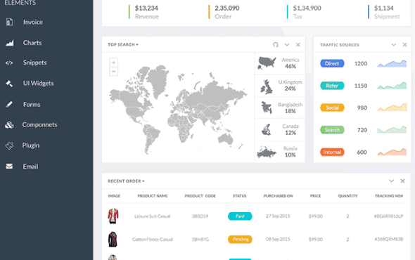 25+ Best Free Dashboard UI PSD Templates - 365 Web Resources