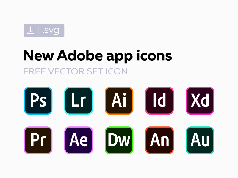 Free new Adobe СС icons