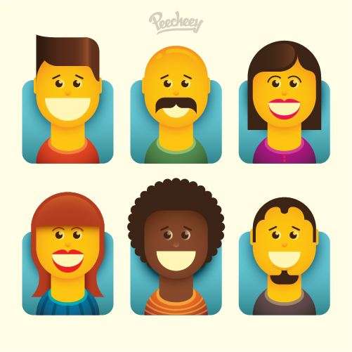 funny-and-colorful-avatars-free-vector