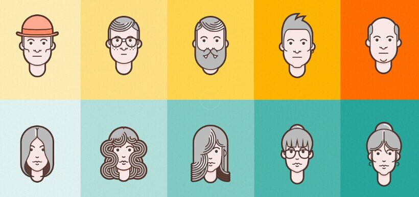 material-design-flat-avatar-set