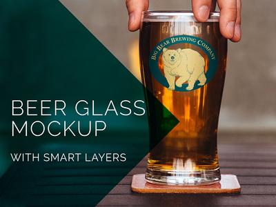 Beer Glass Mockup Freebie