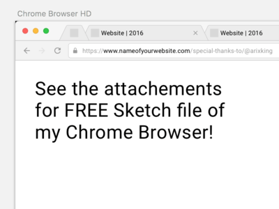 Chrome Browser Mockup – Sketch Freebie